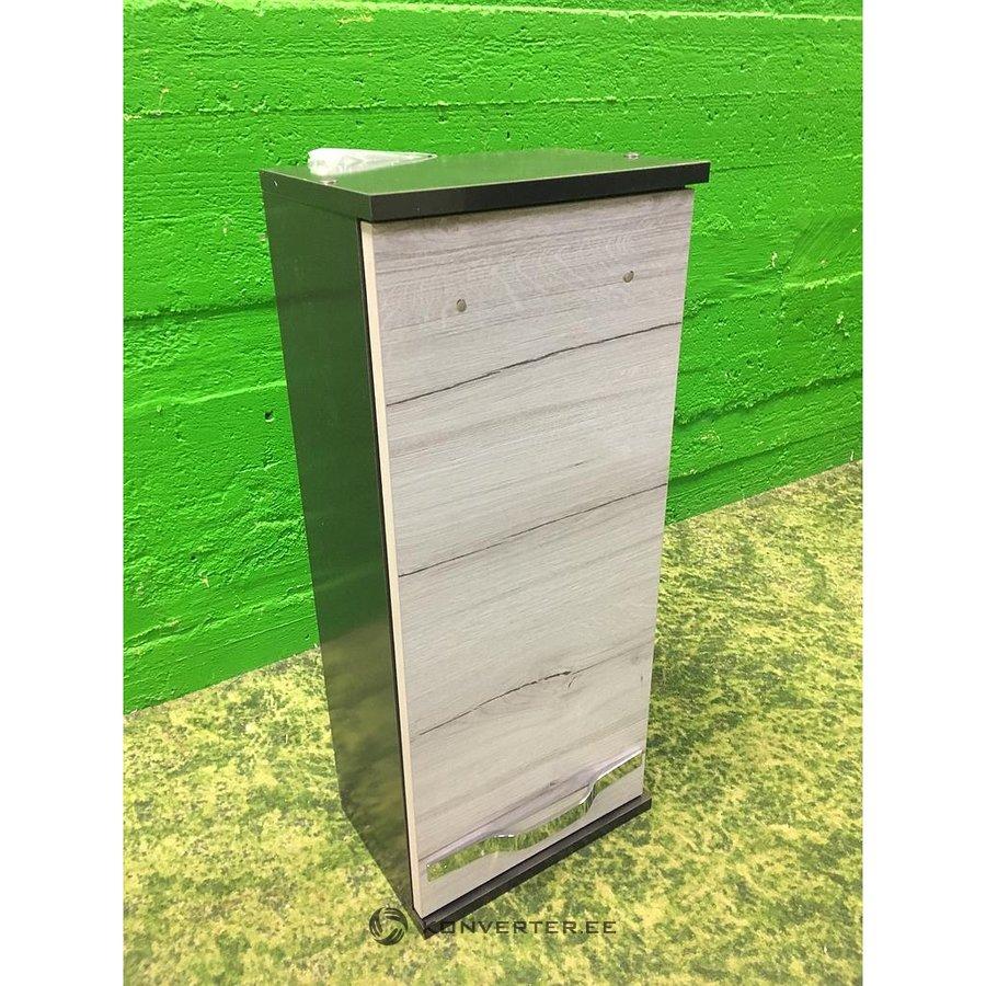 Narrow Black Cabinet With Light Door Konverter Outlet