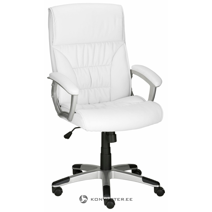 White Leather Office Chair On Wheels Konverter Outlet