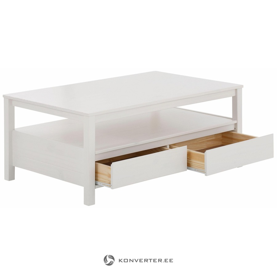 Small White Sofa Table With 2 Drawers